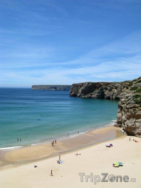 Fotka, Foto Krásná pláž Sagres v Algarve (Portugalsko)