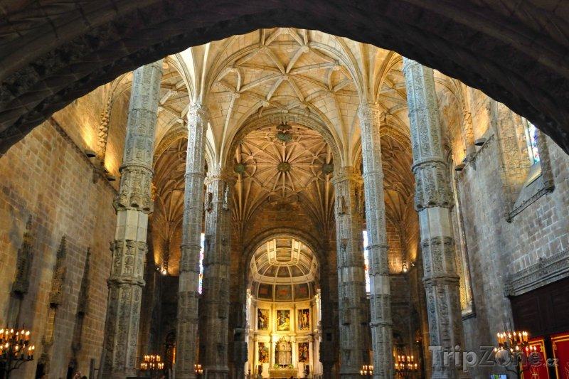 Fotka, Foto Lisabon, vnitřek kláštera sv. Jeronýma (Lisabon, Portugalsko)