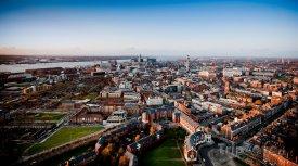 Liverpool z ptačí perspektivy