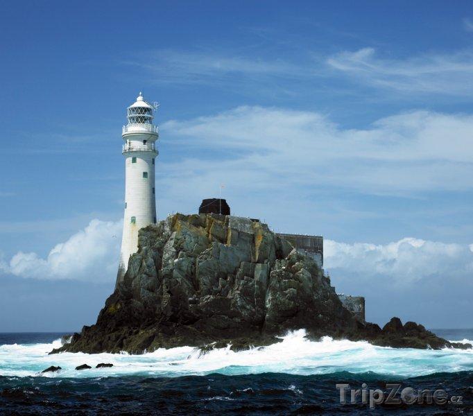 Fotka, Foto Maják na ostrově Fastnet Rock u jižního pobřeží (Irsko)