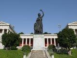 Mnichov - socha Bavarie