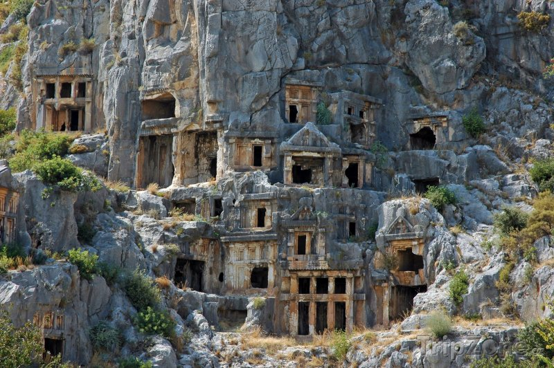 Fotka, Foto Myra, hroby ve skále (Turecko)