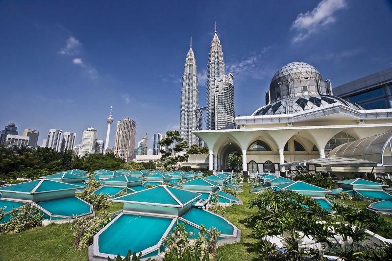 Fotka, Foto Petronas Twin Towers v Kuala Lumpuru (Malajsie)