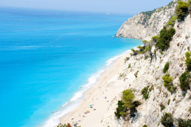 Fotka, Foto Pláž Egremni na Lefkádě (Řecko)