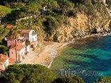 Pláž na ostrově Elba