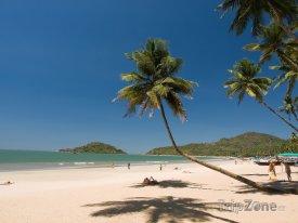 Pláž Palolem v turistické oblasti Goa