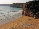 Pláž Sagres v Algarve