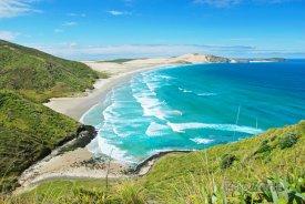 Pláž v blízkosti mysu Cape Reinga
