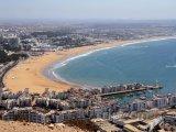 Pláž ve městě Agadir