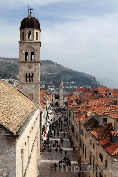 Fotka, Foto Pohled na hlavní dubrovnickou ulici Stradun (Dubrovník, Chorvatsko)