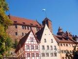 Pohled na hrad v Norimberku