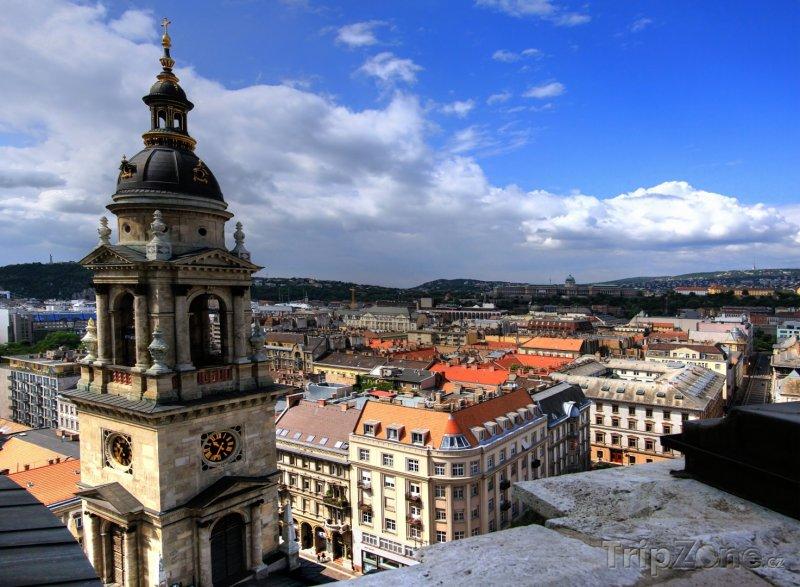 Fotka, Foto Pohled na město ze sv. Štěpána (Budapešť, Maďarsko)