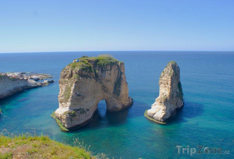 Fotka, Foto Pohled na moře u Bejrútu (Libanon)