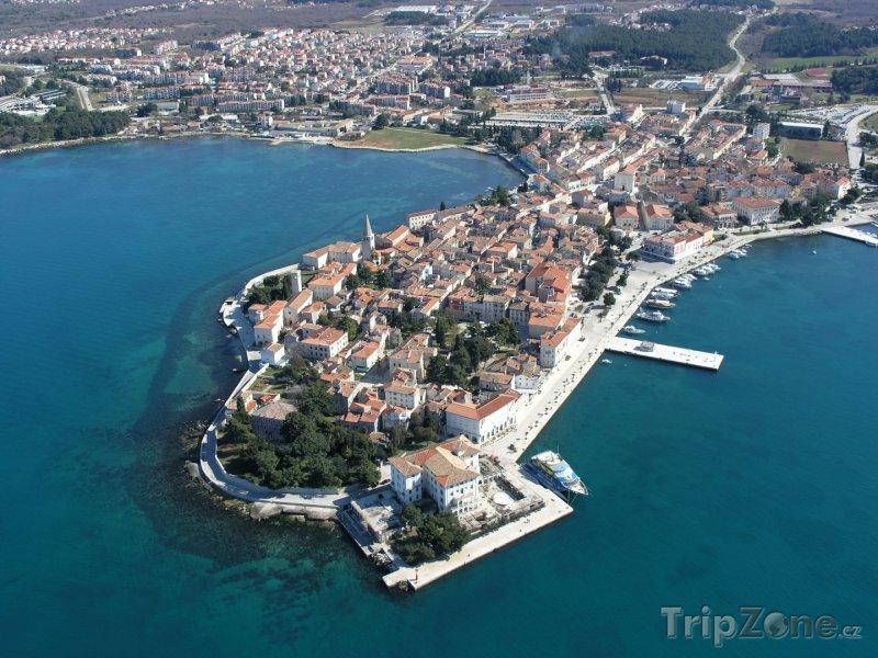 Fotka, Foto Pohled z výšky na přístav Poreč (Chorvatsko)