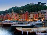 Portofino - přístav a rybářské lodě