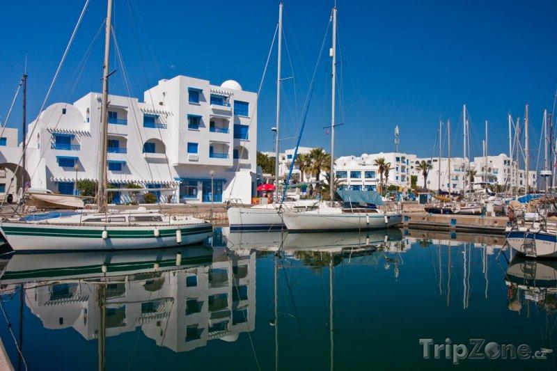 Fotka, Foto Přístav ve městě Monastir (Tunisko)