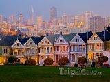 San Francisco, domky poblíž Alamo Square