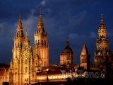 Santiago de Compostela, katedrála v noci