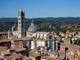 Siena, pohled na katedrálu