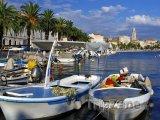 Split, loďky v přístavu