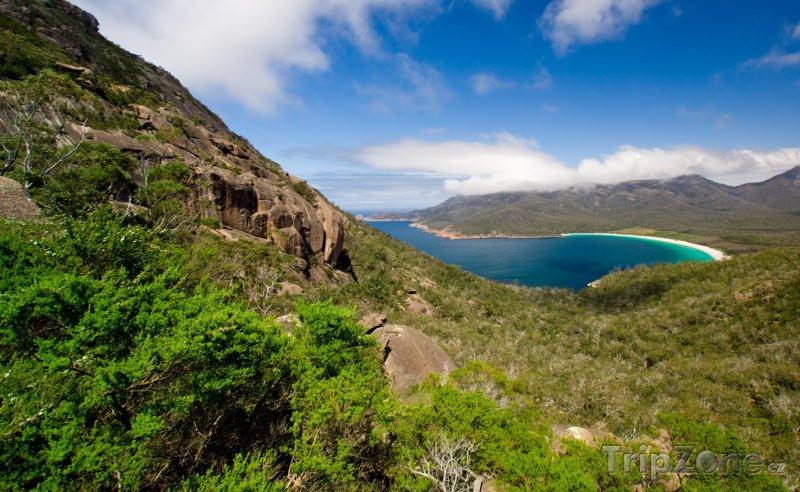 Fotka, Foto Tasmánie - příroda v okolí Wineglass Bay (Austrálie)
