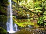 Tasmánie, vodopády Russell