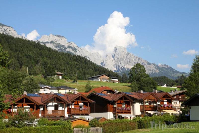 Fotka, Foto Vesnice Annaberg (Rakouské Alpy, Rakousko)