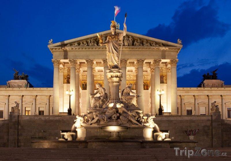 Fotka, Foto Vídeňský parlament (Vídeň, Rakousko)