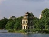 Želví věž - symbol Hanoje na jezeře Hoan Kiem