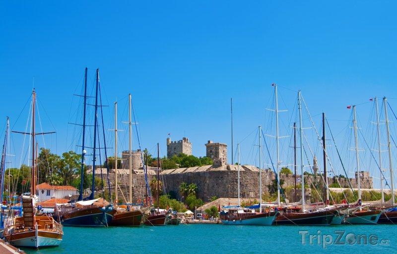 Fotka, Foto Bodrum, jachty v přístavu (Turecko)
