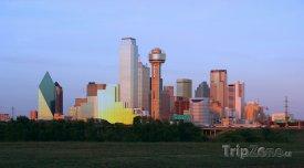 Dallas, centrum města za soumraku