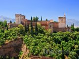 Granada - pohled na Alhambru