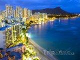 Honolulu, Waikiki Beach v noci