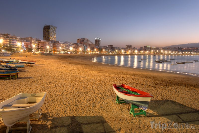 Fotka, Foto Las Palmas - pláž Las Canteras (Kanárské ostrovy, Španělsko)