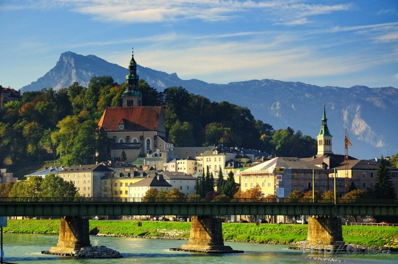 Fotka, Foto Most přes řeku Salzach (Salcburk, Rakousko)