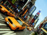 New York, taxík na Times Square