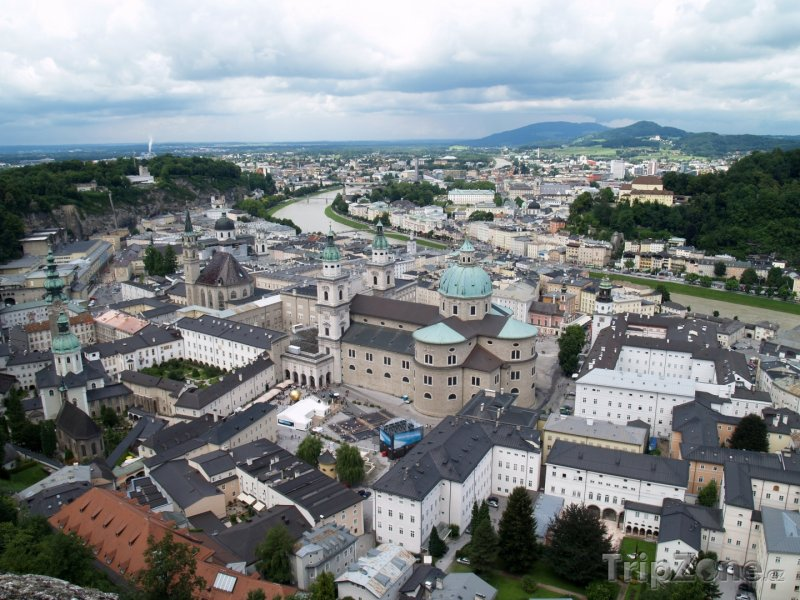 Fotka, Foto Panoramatický pohled na město (Salcburk, Rakousko)