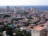 Pohled na havanské mrakodrapy