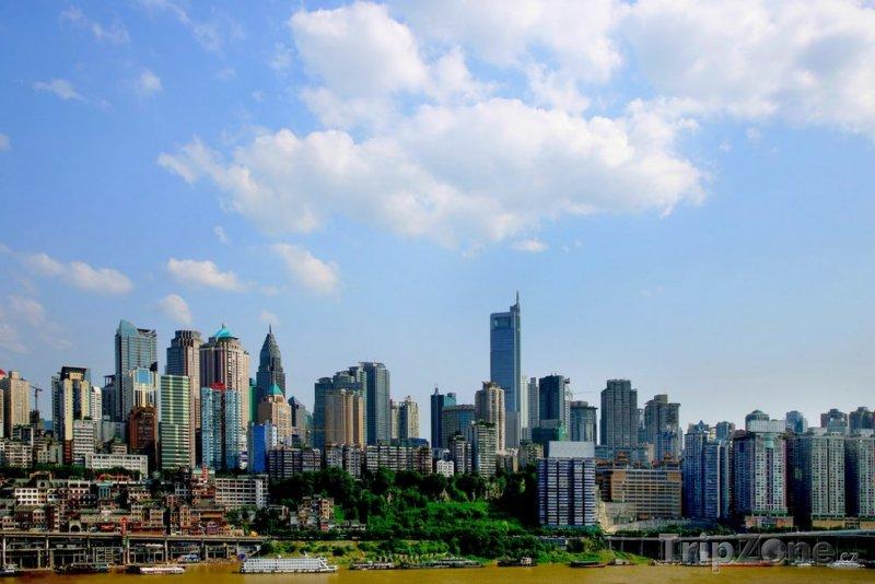 Fotka, Foto Pohled na město Čchung-čching (Čína)