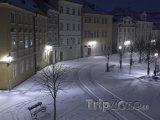 Praha, zasněžená Kampa