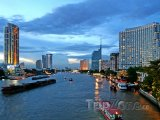 Řeka Chao Phraya v Bangkoku