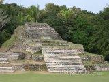 Ruiny starověkého mayského města Altun Ha