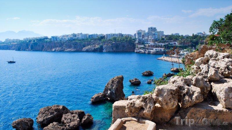 Fotka, Foto Skalnaté pobřeží (Antalya, Turecko)
