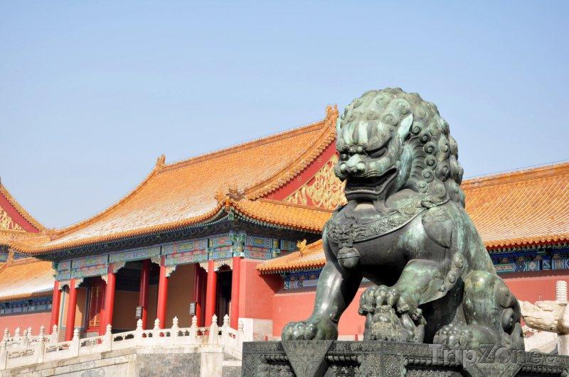 Fotka, Foto Socha lva v Zakázaném městě (Peking, Čína)