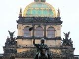 Socha svatého Václava před Národním muzeem