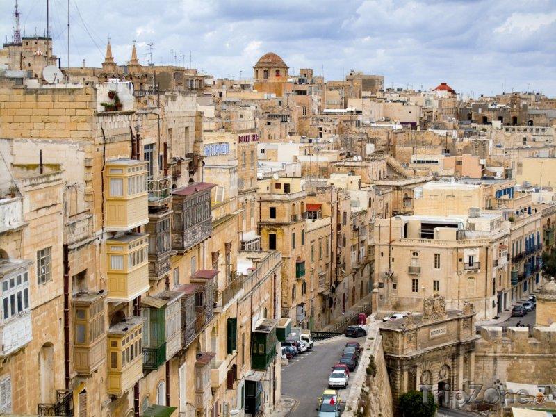 Fotka, Foto Valletta, domy ve městě (Malta)