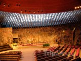 Vnitřek skalního kostela Temppeliaukio