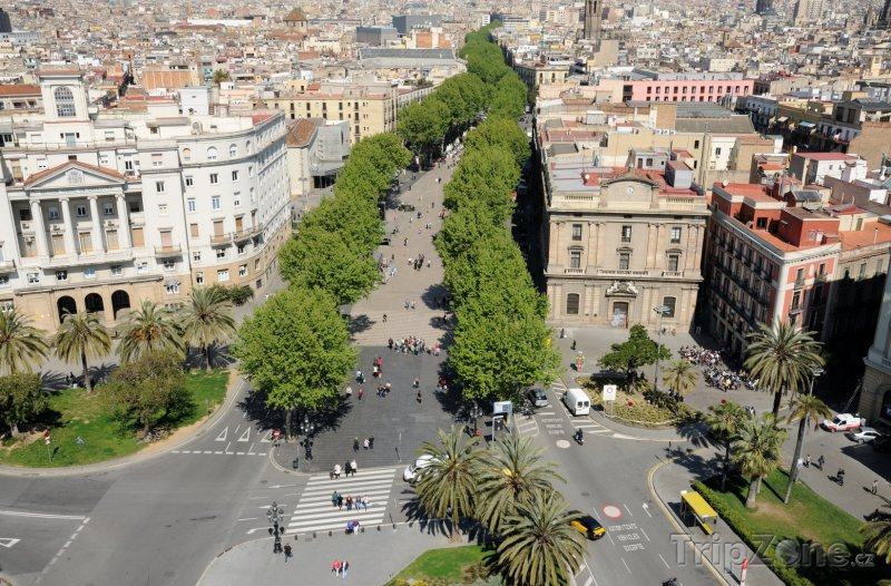 Fotka, Foto Barcelona, třída La Rambla (Barcelona, Španělsko)