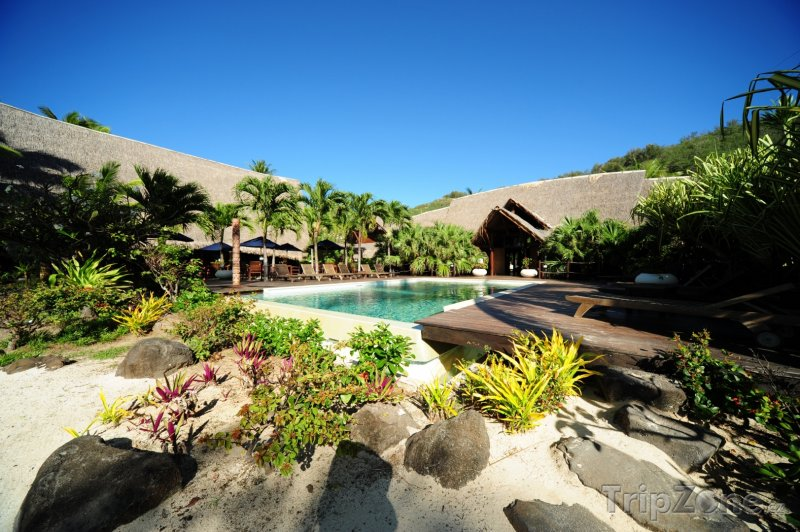 Fotka, Foto Bazén na Tahiti (Francouzská Polynésie)