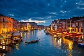 Benátky, Canal Grande v noci